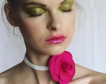 NEW Fucshia Silk Camellia Brooch/Camellia Brooch/Camellia Brooch/Luxury gift/Couture Camellia brooch/Bridal couture/