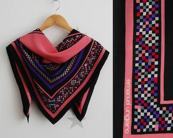 Emanuel Ungaro scarf, vintage silk scarf