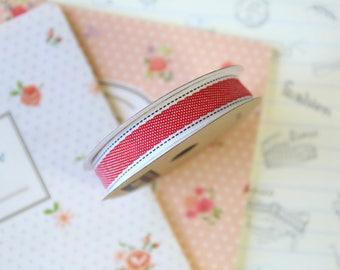 Vintage Style Red Denim ribbon
