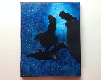 Aladdin Inspired Melted Crayon Art Painting