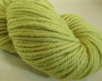 Natural Dye Wool Yarn - Bulky - Goldenrod Plant Dye - 100%Wool - YAB101744  - 100 grams