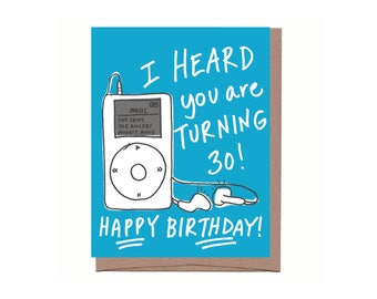 Digital 30th Birthday Card