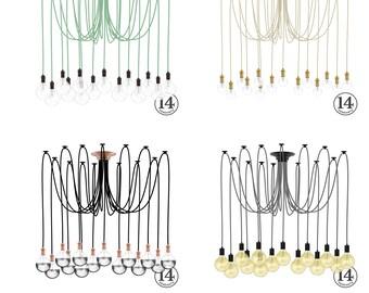 Swag moderne prise en grappe lustre clairage pendentif - Lustre multi ampoules ...