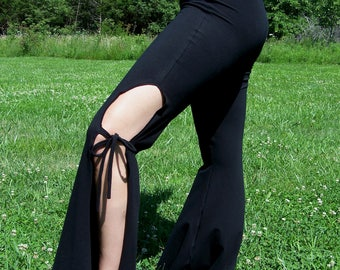 Dance Pants Bootcut Stretch Cotton Knit with thigh opening