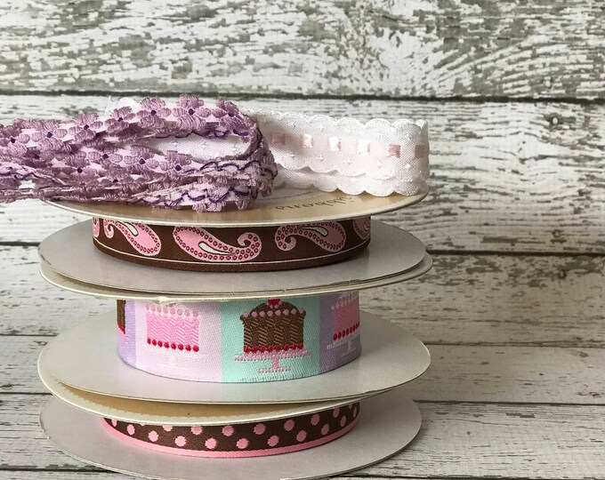 Designer Ribbon Trim Pack - Birthday Cakes