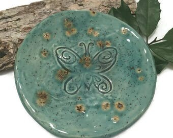 Butterfly Spoon Rest in Pale Blue - Ready to Ship