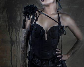 Black Fringe - Lace Bodysuit