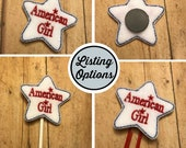 All Girl Feltie/Stitchie, Magnet, Personal Planner Clip/Bookmark, Page Marker, Cupcake Topper