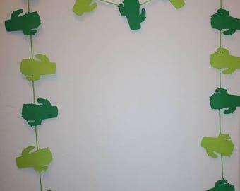 Cactus Die Cut - Paper Banner Garland