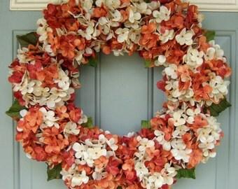 Summer Wreath - Wreath for Summer - Hydrangea Wreath for Summer