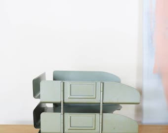 Vintage Industrial 3 Tier Paper Tray