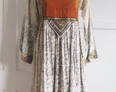 1970s Indian hippy dress S M