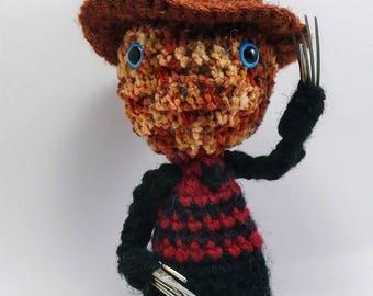 Creepy Doll Horror Doll Nightmare Freddy Krueger-inspired Crochet Amigurumi