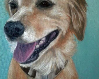 Commission Pet Portrait Realism Oil Painting on Stretched Canvas Hand Painted Painting From Your Photo Pet Lover Christmas Gift Karen Snider