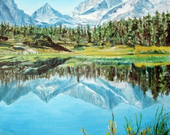 Mountain mirror. No wind. Only the quiet to take in. 8 x 10 matted OR 11 x 14 without mat