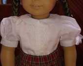 White Blouse with Short Sleeves Molly or Emily fits American Girl 18 inch doll