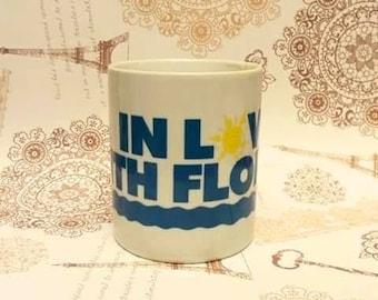 Love Florida Mug, Florida Souvenir Coffee Mug, In Love with Florida Mug, Vintage Souvenir Mug,