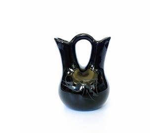 Vintage Black Southwestern Wedding Vase
