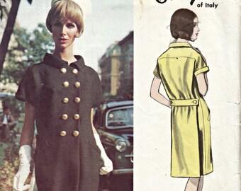 1960's Vogue Couturier Dress Pattern  VOGUE 1448 Irene Galitzine Designer  60's Out of Print Vintage Dress Pattern Italian Designer Bust 34
