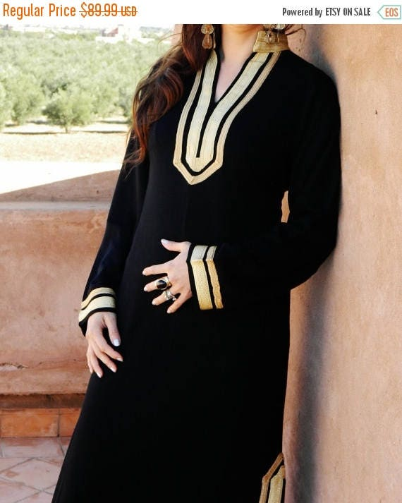 20% OFF Winter Sale// Kaftan Mariam Style Black Bohemian Caftan Kaftan -loungewear,resortwear,spa robe, for Mothers day gift, Birthdays or M