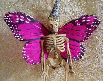 Fairy Skeleton Butterfly Wings, Halloween Ornament, Halloween Party Decor, Party Favor, Skeleton Fairy, Dia de los Muertos, Fairy Ornament