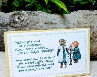Beatrix Potter BOOK RAFFLE Invitation Insert Cards - Peter Rabbit Book Shower