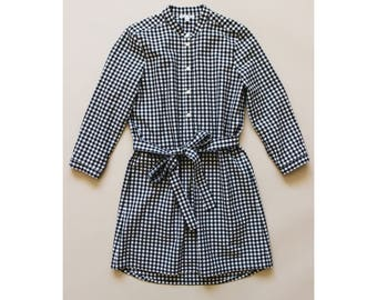Ingrid Black and White Gingham Dress