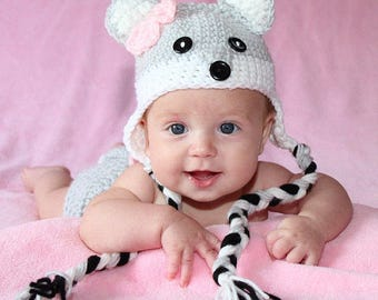 Gray Fox Hat, Crochet Fox Hat, Baby Fox Hat, Fox Photo Prop, CbbCreations, Boys Fox Hat, Girls Fox Hat, Animal Hat