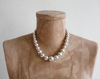 Sterling Graduated Bead Necklace