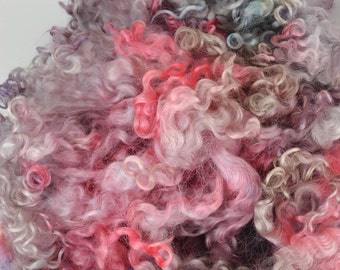 Wensleydale Long Wool Locks for Spinning and Felting Fiber- Colorway Cherry Cordial