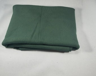 Green Remnant of Hand Dyed Organic Cotton Rib Knit Fabric  Made in the USA