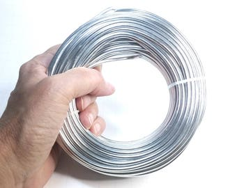 Aluminum wire etsy bulk aluminum wire round silver color 500 grams choose sizes from 8 thickness keyboard keysfo Choice Image