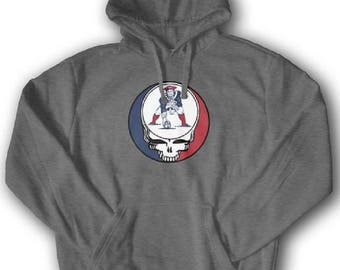 Dead and Company Screen Printed Steal Your Face Patriots Hoodie