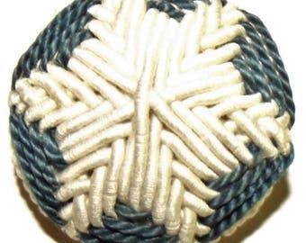 Antique Button ~ Antique Wound Fabric Button ~ Victorian Button Wound Star Design