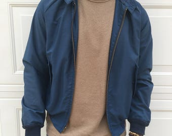 FREE SHIPPING!: Vintage 1960s Blue Zip Up Jacket with Pockets