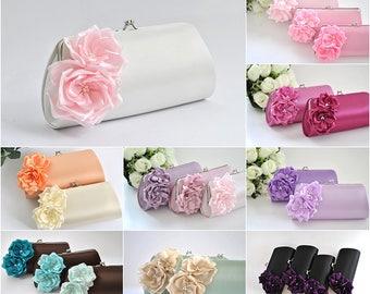CUSTOM clutch - Please choose your color - Bridal clutch/Bridesmaid clutch /Wedding clutch/Prom clutch