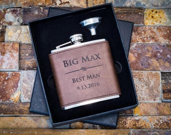 Groomsmen Gift Box, Groomsmen Proposal, Will You Be My Groomsman Box, Groomsmen Box, Groomsman Gifts, Engraved Flask, Personalized Flask