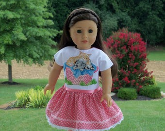 """SUPER SATURDAY SALE !  18"""" Size /Embroidered School Dress  for 18"""" American Girl® Dolls"""