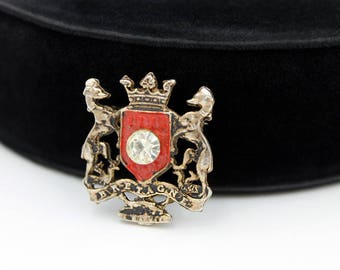 BRETAGNE Brooch - Anne of Brittany Coat of Arms, ca. 1970s
