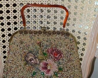 On Sale Vintage Bag~ Rare Soure' Bag~New York City~ Embellished handbag~Soure Handbag~Soure Purse~1950's~Stunning
