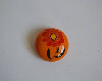 Funky Danish Flower Paperweight/Wall Hanging