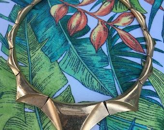 Vintage Monet Gold Geometric Necklace
