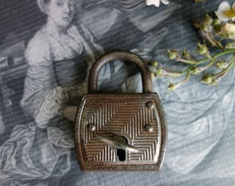 Old padlock with key 6
