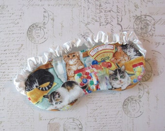 Cats in the Candy Shop Sleep Mask // Cotton & Satin Eye Mask
