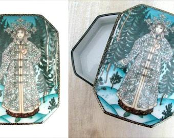 Russian Fairy Tales Snow Maiden Covered Dish // Snegurochka Heinrich Villeroy & Boch Trinket Dish