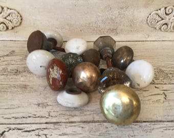 Vintage Glass, Metal and Porcelain/Ceramic Door Knobs and Hardware