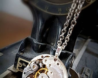 Vintage Pocket Watch Pendant - Circa 1903 - Steampunk Inspired Timeless Relic