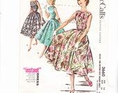 McCalls 3660 Three Sleeveless Dresses With Easy Hoop Skirt Size 14 Bust 34 Cut Pattern