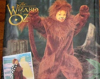 Sewing Pattern Simplicity 7825 Childs Costume, The Wizard of Oz Cowardly Lion Suit, Size 3 4 5 6 7 8 Chest 20 21 22 23 Uncut Factory Folds