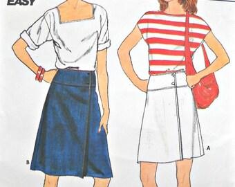 Butterick 4929, Misses Skirts Pattern, Sizes 14, 16, 18, Factory Folded Uncut, Vintage 1980's